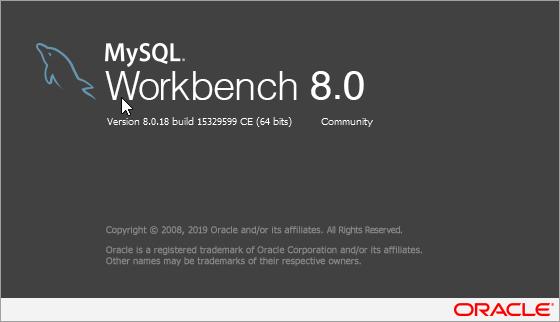 MySQL Workbench 8.0.18